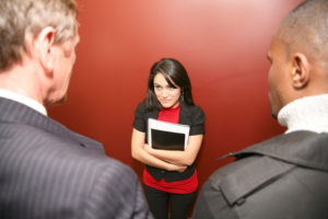 Business Woman Questioning Male Office Dominance