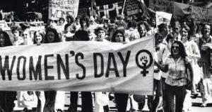 International Women's Day marchers in 1977. (Credit: Fairfax Media/Fairfax Media via Getty Images)