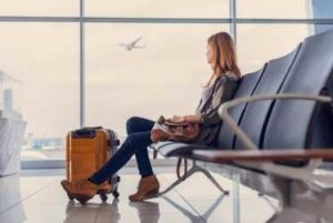 Businesswoman traveling