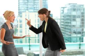 Office women fighting